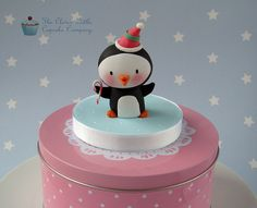 Christmas Penguin Cake Topper by The Clever Little Cupcake Company, via Flickr