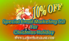 Get 10% off for Christmas holiday #chinaemaillists! Email Christmas list! http://www.latestdatabase.com/china-email-lists/