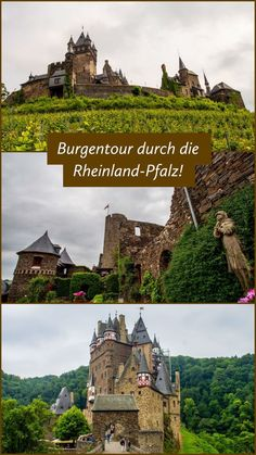 Eine kleine Burgentour durch Rheinland-Pfalz I'll take you to three castles in Rhineland-Palatinate: Thurant Castle, Cochem Castle and Eltz Castle, and show you how beautiful they are! Destinations D'europe, Germany Destinations, Places To Travel, Places To See, Voyage Quotes, Castles To Visit, Small Castles, Rhineland Palatinate, Castles In Ireland