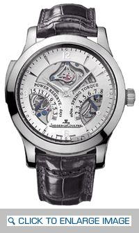 JLC Master Repeater Limited Edition Timepiece Q1646420 Platinum Case Crocodile Strap Manual Movement