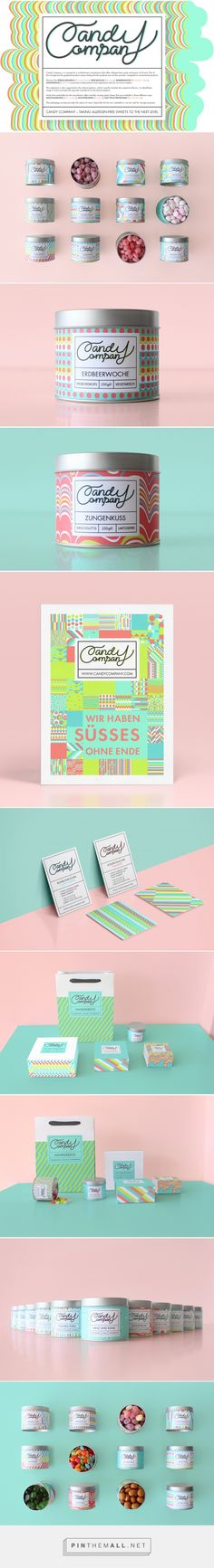 Candy Company Branding and Packaging by Sarah Dornieden                                                                                                                                                                                 More