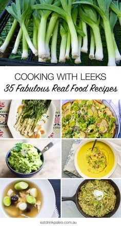 35 Fabulous, Real Food Leek Recipes - paleo, primal, gluten free and vegan recipes using leeks. We've got leek soups, roasted and braised leeks, leek frittatas, dips and condiments. Get them here: http://eatdrinkpaleo.com.au/35-fabulous-leek-recipes/