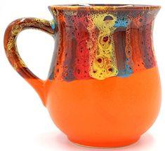 AmazonSmile: Orange ceramic tea mug, Handmade pottery rainbow coffee mug, Rainbow gift for her, friend, Bright cup 9.5 oz: Handmade Ceramics Pottery Mugs, Hand Painted Ceramics, Ceramic Pottery, Gift Mugs, Gifts In A Mug, Gifts For Her, Tea Mugs, Coffee Mugs, Rainbow Coffee