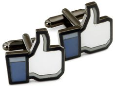 Dressing up for #smday? Show off your social media savvy with these thumbs up cufflinks.