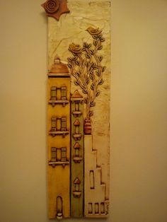 .... Clay Houses, Ceramic Houses, Hand Built Pottery, Wall Plaques, Clay Creations, Clay Art, Ceramic Art, Sculpture Art, Polymer Clay