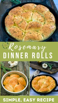Your guests will love biting into the best dinner rolls for Thanksgiving! These rosemary garlic dinner rolls are so simple and easy that you don't need to wait for a special occasion to make them. Just thaw, rise, brush, and bake for the easiest dinner roll recipe ever. And you can even bake then in your air fryer! These super soft, buttery rolls are guaranteed to be the star of your Thanksgiving table. Easy Baking Recipes, Side Dish Recipes, Real Food Recipes, Big Meals, Easy Meals, Dinner Rolls Recipe, Roll Recipe, Frozen Dinner Rolls, Savory Bread Recipe