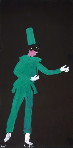 David Hockney , Punchinello from El Grand Teatro , 1984.