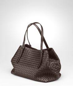 Ebano Intrecciato Nappa Tote - Women's Bottega Veneta® Tote Bag - Shop at the Official Online Store