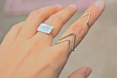 Twisted Triangle Ring (one pcs price) ,shop at Costwe.com