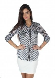 MOJO Georgette Shirt IN BLACK  Rs. 1,299