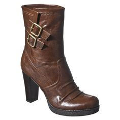 Women's Mossimo® Keeley Heeled Boots - Brown