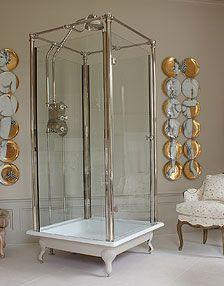 Spittal freestanding glass shower