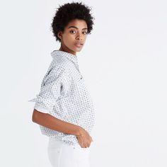 Shrunken Trapeze Shirt in Penpoint Dot