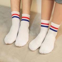 Able Harajuku Hip Hop Autumn Winter Letter Tide Color Tube School Wind Low Stripe Cotton Mens Ankle Short Socks Off White Calcetines Underwear & Sleepwears