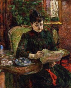 Madame Aline Gibert, 1887. De Henri de Toulouse-Lautrec (1864-1901).
