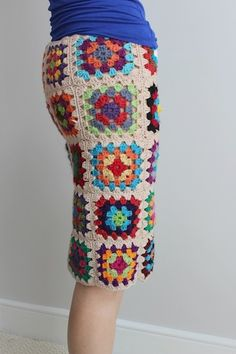 Granny Square Skirt: I love this idea!