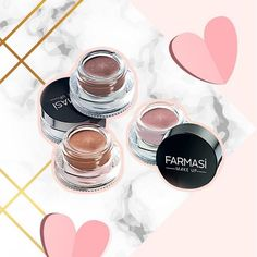 We are obsessed with the long-last creamy eyeshadow. ~ long lasting, no caking, no creases, beautiful blend and color Makeup Bar, Makeup Ideas, Farmasi Cosmetics, Creamy Eyeshadow, Brow Mascara, Eyeliner, Body Shop At Home, Beauty Consultant, Waterproof Mascara