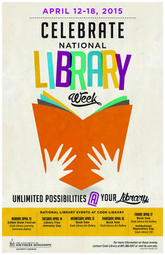 Poster for National Library Week Events