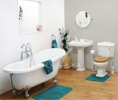 Winchester Traditional Free Standing Roll Top Slipper Bathroom Suite (1550mm)