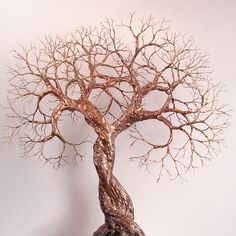 Wire Tree Of Life Soul Mate Spirits sculpture by CrowsFeathers