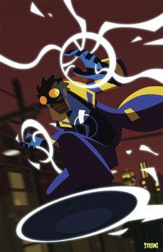 Fashion and Action: Dwayne McDuffie& Static Shock - Fan Art Gallery Universe Art, Comics Universe, Comic Books Art, Comic Art, Book Art, Black Lightning Static Shock, Legion Of Superheroes, Black Comics, Hero Time