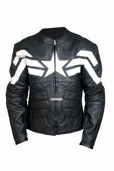 Captain America Leather costume Jacket The Winter soldier Leather Motorbike  #Handmade #JacketsCoatsCloaks