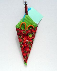 Strawberries Scissors Caddy with Scissors  FREE by VABeachQuilter,