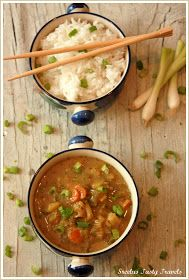 Sreelus Tasty Travels: Spicy Pepper Coconut Yellow Thai Curry
