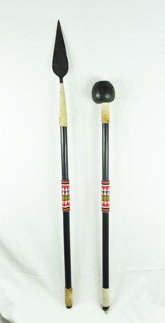 Zulu Spear & Ball Club (Knob Kerrie) - Set