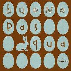 Cartolina di Pasqua con uova