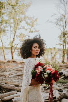 This elopement inspiration at The Falls of the Ohio features a pomegranate and dusty blue color palette and a vow exchange and picnic near the river. Wedding Poses, Wedding Portraits, Wedding Bride, Floral Wedding, Wedding Colors, Wedding Bouquets, Wedding Styles, Dream Wedding, Wedding Dreams