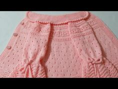 Baby Cardigan Knitting Pattern Free, Knitting Patterns Free, Baby Knitting, Crochet Flower Patterns, Lace Patterns, Crochet Designs, Baby Girl Dresses Diy, Knitted Baby Clothes, Knitting Videos