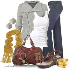 Fall outfit - like the colors