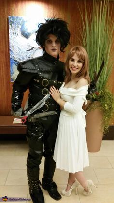 Edward Scissorhands and Kim Boggs - Halloween Costume Contest at Costume -Works.com  sc 1 st  Pinterest : unique halloween costume ideas  - Germanpascual.Com