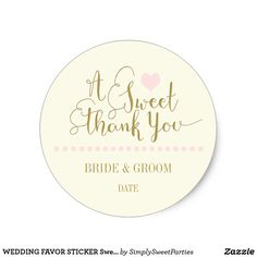 WEDDING FAVOR STICKE