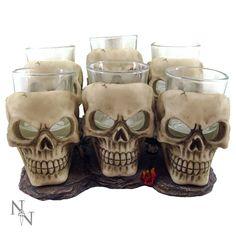 Nemesis Now Alator #Giftware - Six Shooter #Skull #Glasses - 10cm - U1646E5