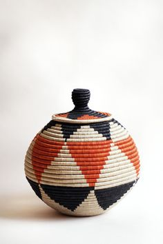 Lidded Floor Basket