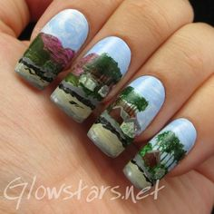 The Digit-al Dozen does summer: Laundry Bay - A manicure using All That Jazz Ice Ice Baby and Acrylic Paint