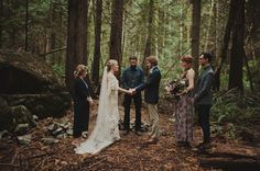 Seattle inspired elopement in the woods