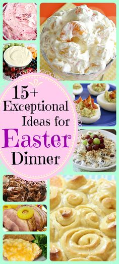 Lovely collection of easy, delicious recipes for Easter dinner from Butter With A Side of Bread