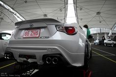 amazing white TRD toyota 86 from behind