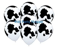 COW PRINT Latex Balloons Birthday Farm Barnyard Party Supplies Decorations