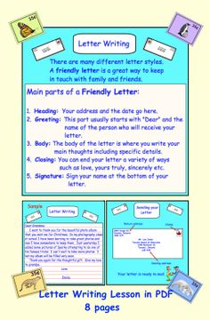 Friendly Letter Study And Writing  Holiday Activities  Friendly