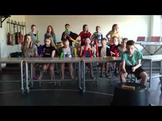 """Lady Gaga's """"Poker Face"""" on Boomwhackers performed by 5th grade (12-year-olds)- really impressive!"""