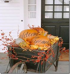 fall decorating in a wiskey barrel | Four tips for Fall decorating…