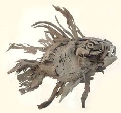 Lionfish made with delicate driftwood by Tony Fredriksson, openskywoodart.com