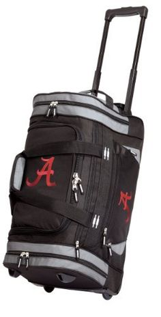 a22bce2081a5 University of Alabama Rolling Duffel Bag Official College Logo Alabama  Crimson Tide DUFFLE Wheeled Travel Gym