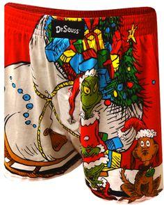 WebUndies.com Dr. Seuss How The Grinch Stole Christmas Boxer Shorts