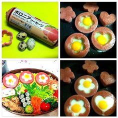 How to Make お花の目玉焼き Bento Box, Lunch Box, Snack Recipes, Snacks, Sushi, Menu, Eggs, Cooking, Breakfast