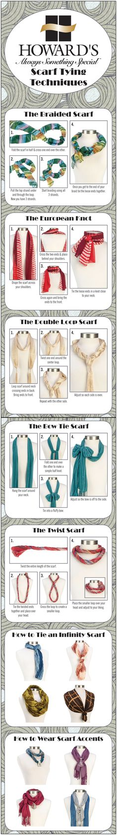 Scarf Tying Techniques with Howard's Jewelry!